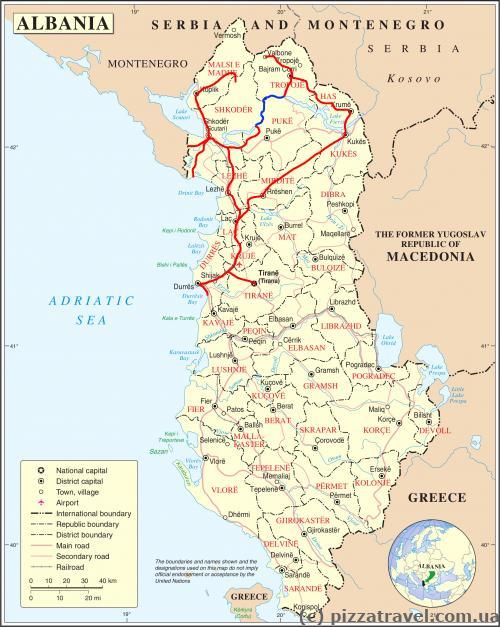 Наш маршрут по Албании