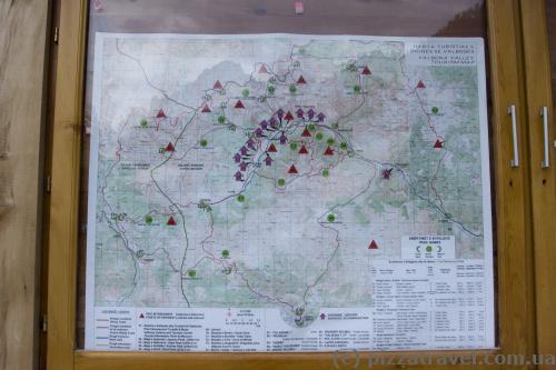 Карта долины Валбона в Албании