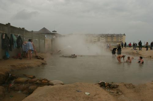 Hot spring at Arabat spit