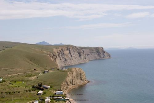 View of Bugas, Cape Tolstyi (Fat) and Karaul-Karsh hills