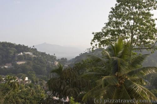View from the hotel window in Kandy