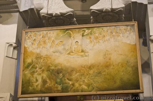 Рисунки внутри Храма Зуба Будды