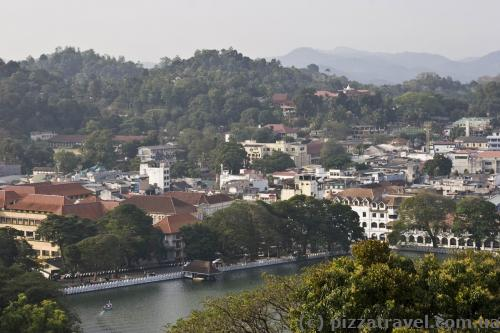 View of Kandy from observation deck