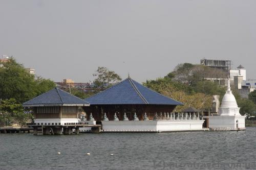 Temple on the Beira lake