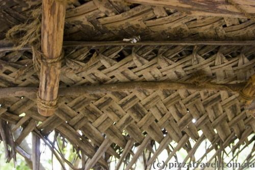 Palm leaf roof
