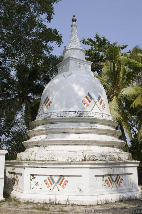 Small stupa on the island
