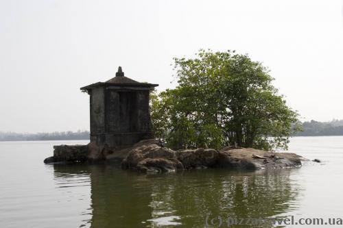 Island with a mini temple