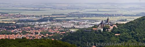 Views of Wernigerode and the castle from Kaiserturm