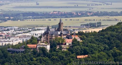 Вид на замок Вернигероде с Kaiserturm