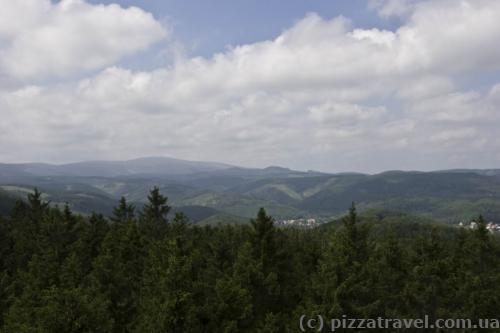 Вид на горы Харц с Kaiserturm