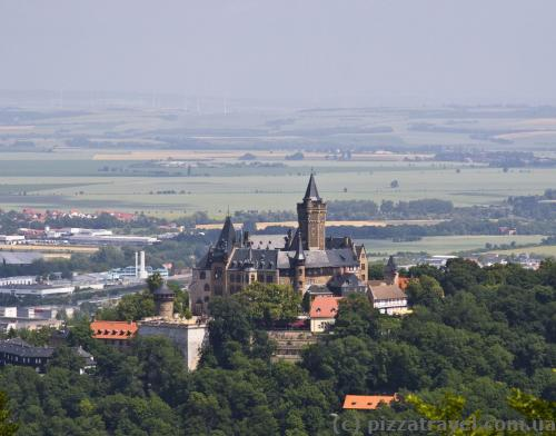 View of the Wernigerode Castle from Harburg