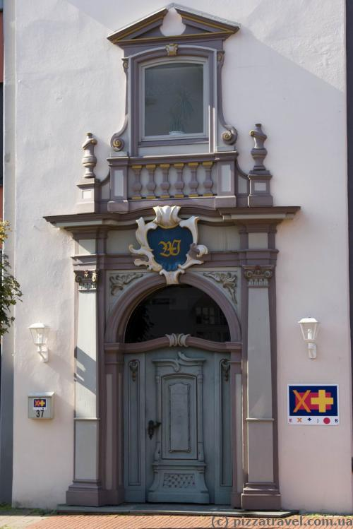 Beautiful entrance to a building in Rinteln