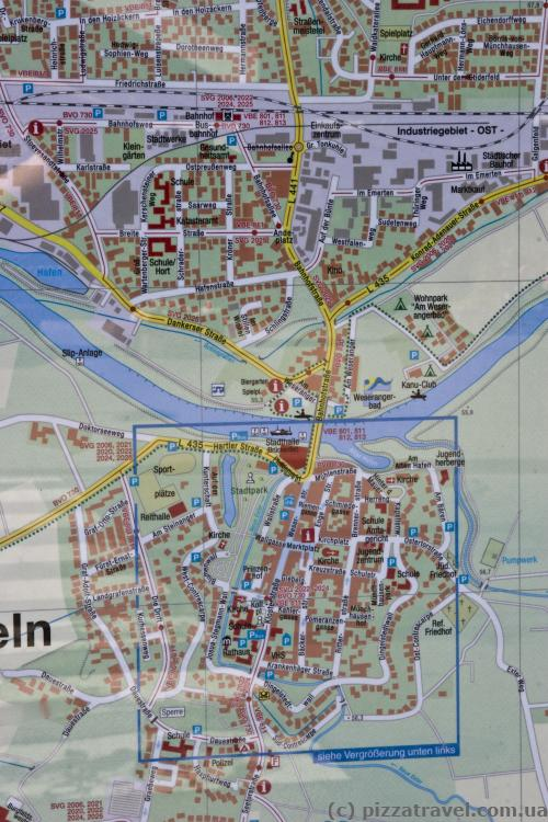 Rinteln map