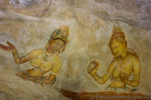 Paintings at Sigiriya