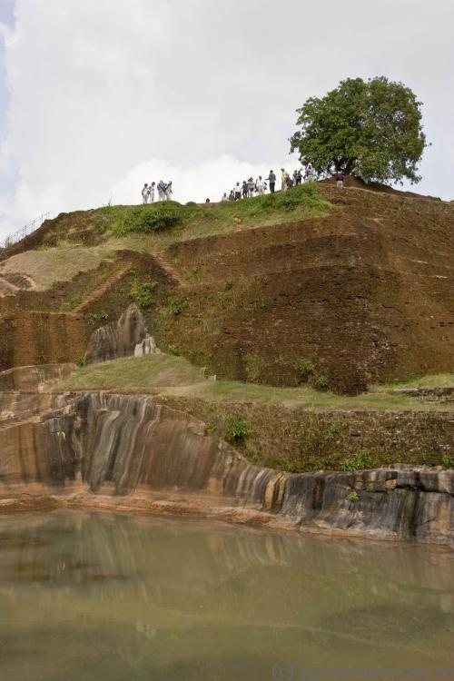 At the top of Sigiriya