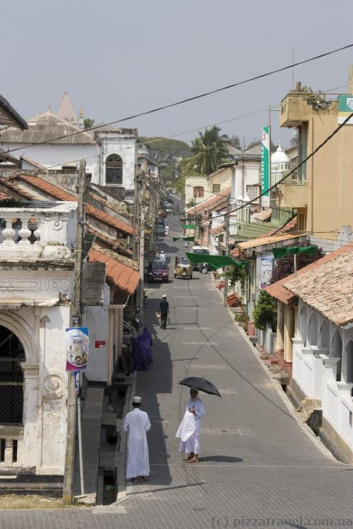 Streets inside the Galle Fort