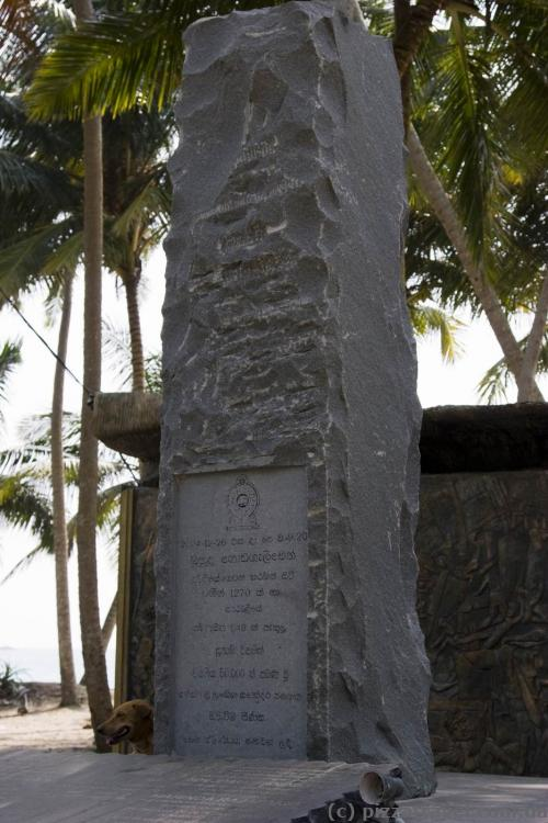 Tsunami memorial near Galle