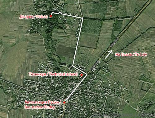 Дворец Фредро, карта