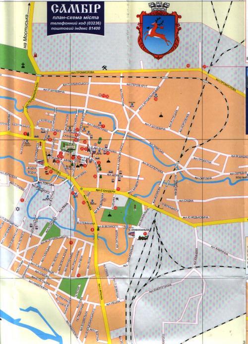 Карта Самбора