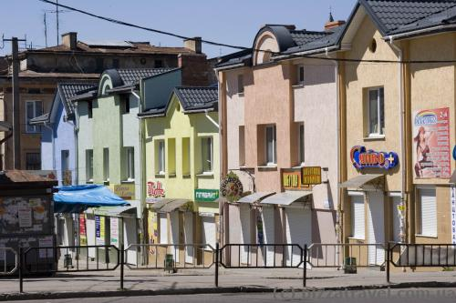 Colored houses in Drohobych