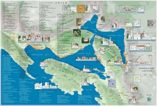 Карта Которской бухты