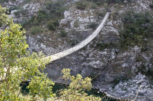 One of bridges across the Moraca Canyon
