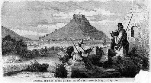 Старая фотография крепости Жабляк Црноевича