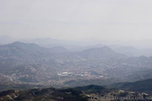 Cetinje view from mount Lovcen