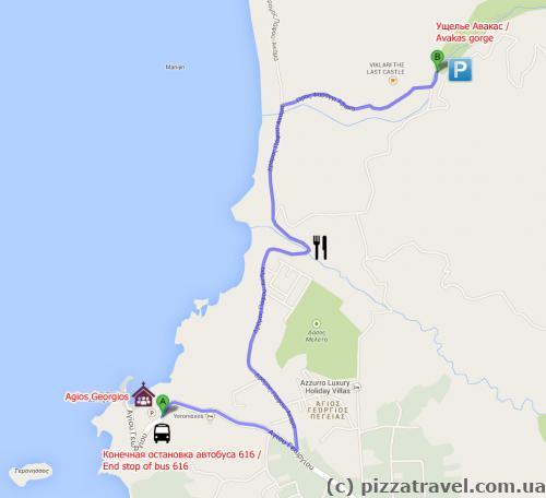 Ущелье Авакас. Карта
