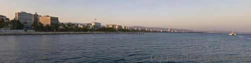 View of Limassol from the pier