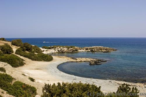 Absolutely deserted beaches on the Akamas Peninsula