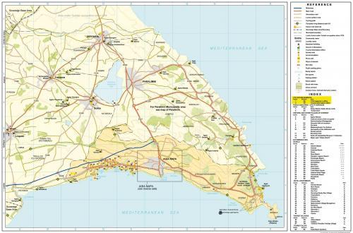 Мыс Греко. Карта