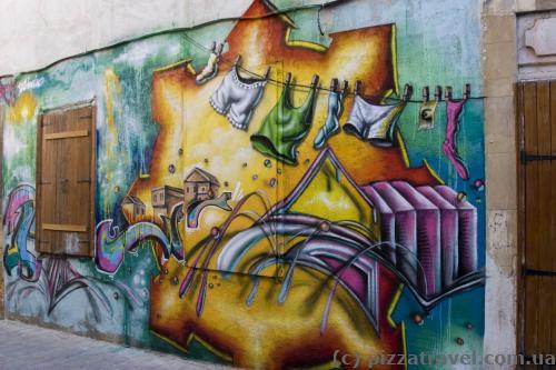 Граффити в виде старого города Никосии