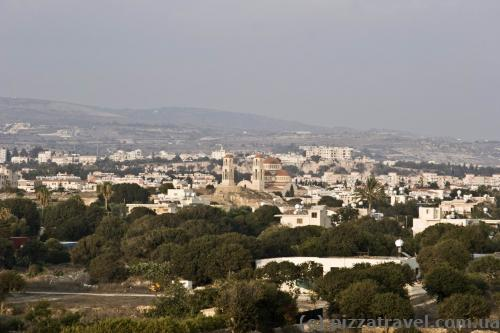 Paphos view from the archaeological park