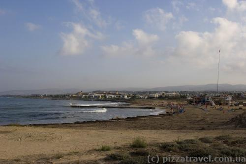 Beach on the west coast of Paphos