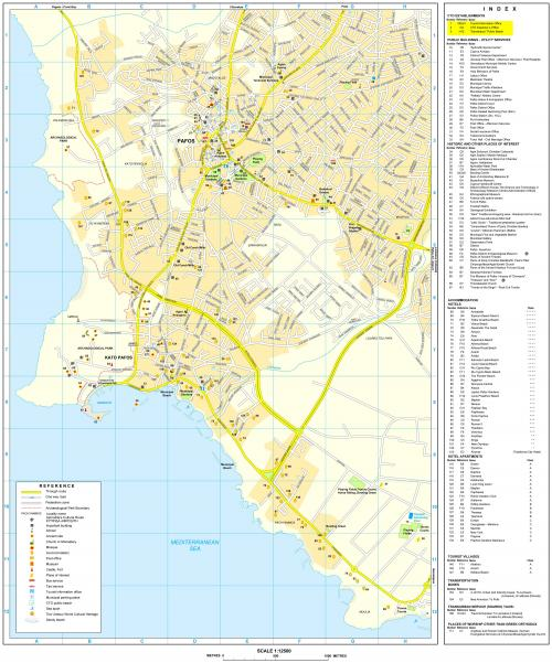 Large map of Paphos
