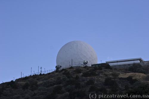 Антена на вершині гори Олімп