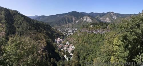 View of Borjomi from the top cableway station