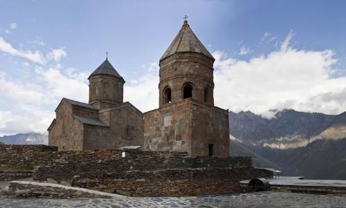 Trinity Church in Gergeti