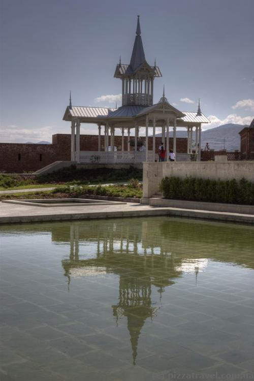 Gazebo with a fountain in the Rabat Fortress