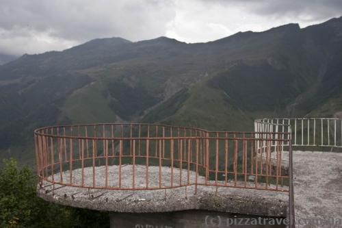 Old observation deck in Gudauri