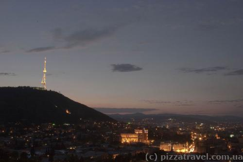 View of Tbilisi from the top station of the cableway