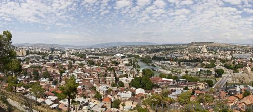 Panorama of Tbilisi from the Nariqala Fortress