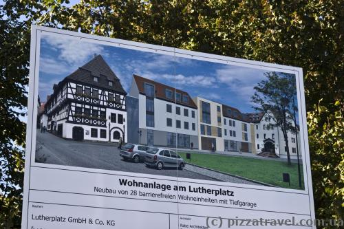 Even in Germany, next to the house of Martin Luther such a monstrosity could be built.
