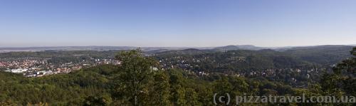 Вид со смотровой около замка Вартбург