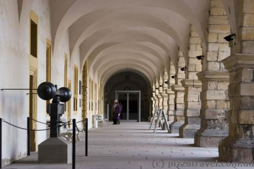 Arcades in the castle