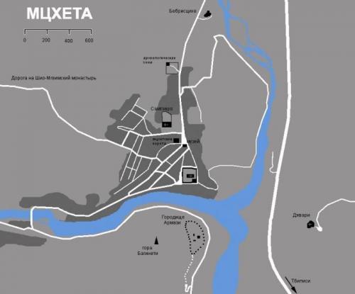Карта Мцхеты
