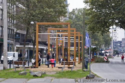 Детская площадка в центре Дортмунда