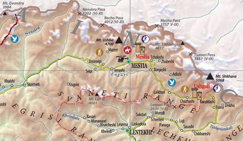 Svaneti, the map