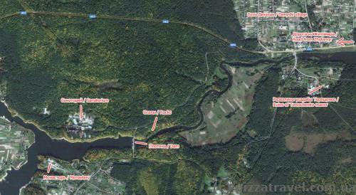 Denyshi, map